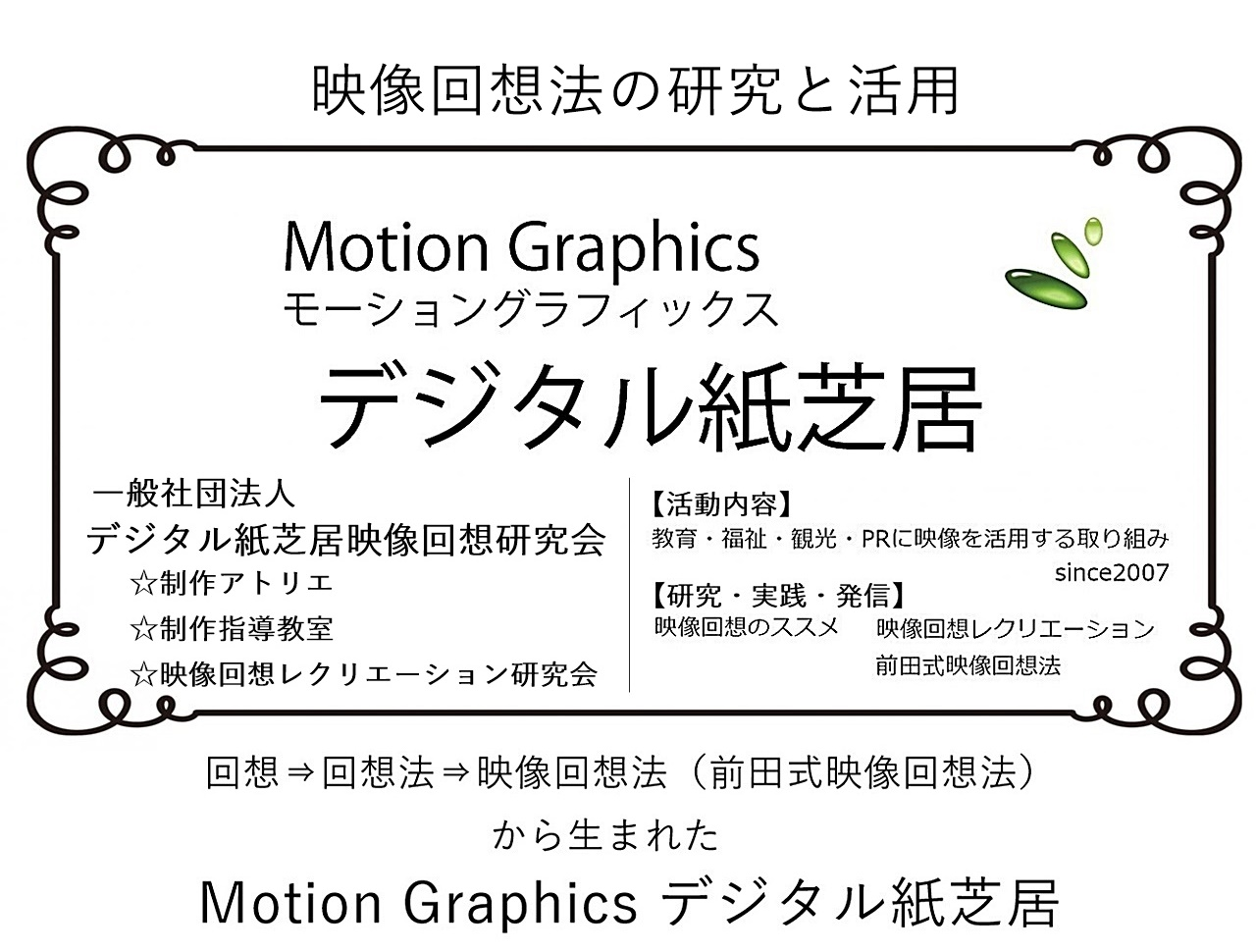 デジタル紙芝居|デジタル紙芝居教室|モーショングラフィックス|映像回想法|